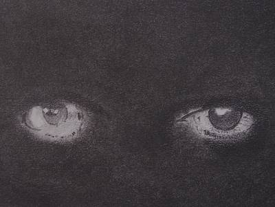Grey Drawing - Windows To The Soul by Nick Young