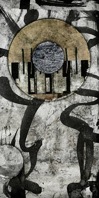 Abstract Montage Mixed Media - Windriver Collage by Carol Leigh