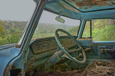 Old Trucks Photograph - Windshield View by Nikolyn McDonald