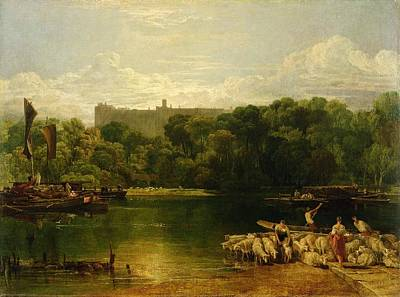 The Shepherdess Painting - Windsor Castle From The Thames by Joseph Mallord William Turner