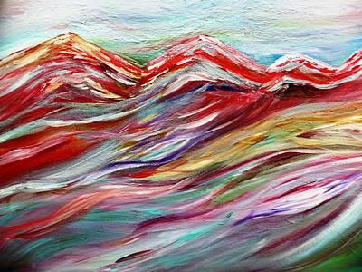 Windy Mountain Day Print by Amy Drago