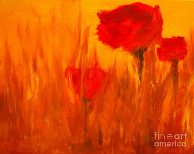 Julie Lueders Artwork Painting - Windy Red by Julie Lueders