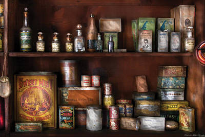 Wine - Rum And Tobacco Print by Mike Savad