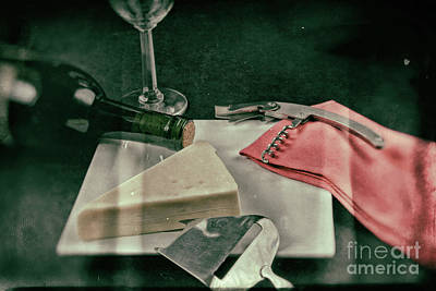 Wine And Cheese Print by Jimmy Ostgard