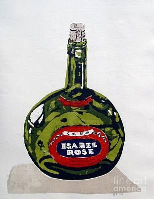 Silks Mixed Media - Wine Bottle by Ron Bissett