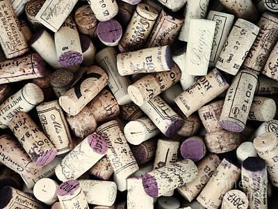 Wine Corks Print by Bedros Awak