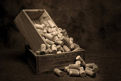 Wine Corks Still Life I Print by Tom Mc Nemar