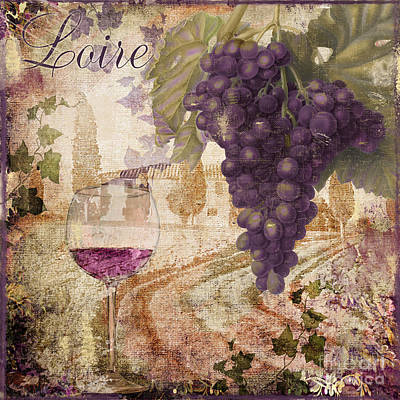 Wineglass Painting - Wine Country Loire by Mindy Sommers