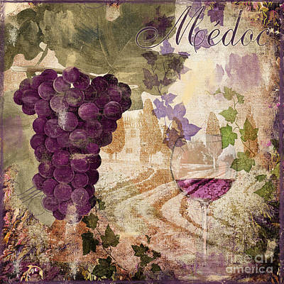 Wineglass Painting - Wine Country Medoc by Mindy Sommers