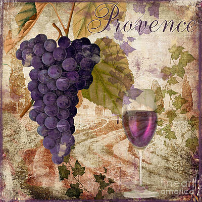 Wineglass Painting - Wine Country Provence by Mindy Sommers