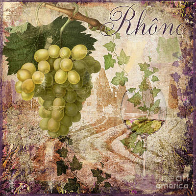 Wineglass Painting - Wine Country Rhone by Mindy Sommers