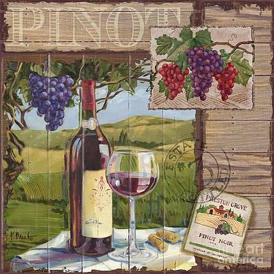 Wine County Collage I Print by Paul Brent