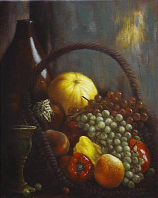 Eggplant Painting - Wine Goblet by Harvie Brown