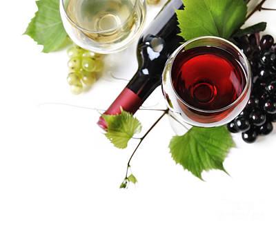 Wine Print by Jelena Jovanovic