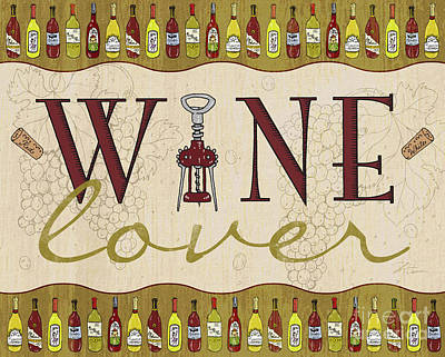 Liquor Mixed Media - Wine Lover by Shari Warren