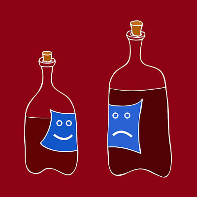 Vinegar Painting - Wine Lovers by Frank Tschakert