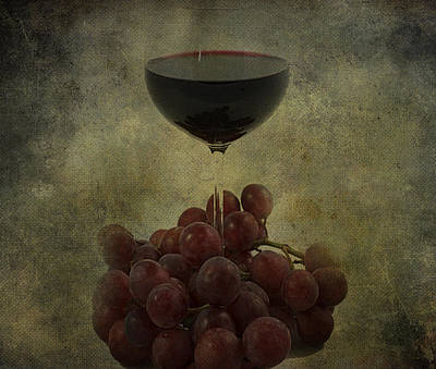 Wine Makes Me Fine Print by JC Photography and Art