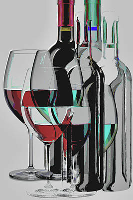 Digital Art - Wine Not Celebrate? by Mary Clanahan