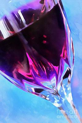 Wine O'clock Print by Krissy Katsimbras