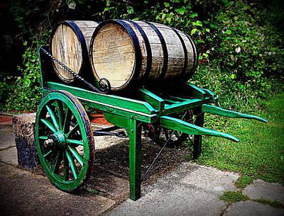 Wine Cart Photograph - Wine Pull Cart by Georgia Doyle  brushhandle