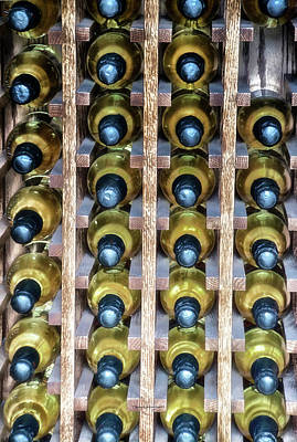 Wine Cellar Mixed Media - Wine Rack With Bottles Pa 04 Vertical by Thomas Woolworth