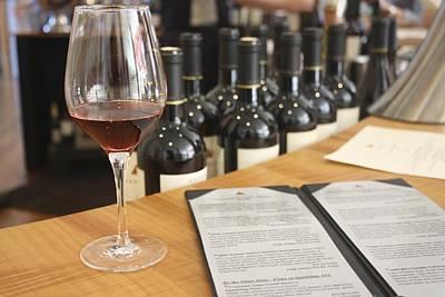 Women Tasting Wine Photograph - Wine Tasting At Artesia Winery Napa Valley by Diane Leone