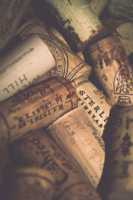 Stopper Photograph - Wine Tasting - Corks by Colleen Kammerer