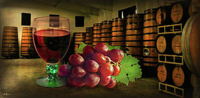 Bunch Of Grapes Photograph - Wine Tasting by Hanny Heim