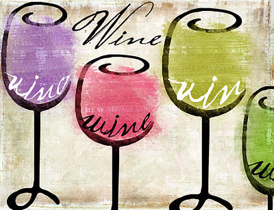 Wineglass Painting - Wine Tasting IIi by Mindy Sommers
