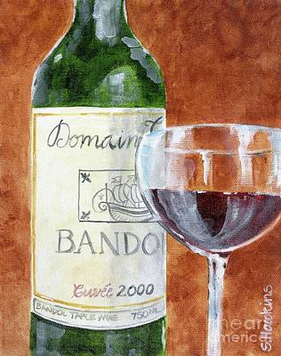 Painted Wine Glass Painting - Wine With Dinner by Sheryl Heatherly Hawkins