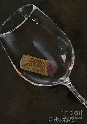 Wine Glasses Painting - Wine With Dinner by Sheryl Heatherly Hawkins