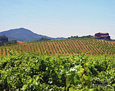 Tasting Mixed Media - Winery by Jerry L Barrett