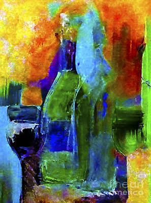 Wine Painting - Winescape by Lisa Kaiser