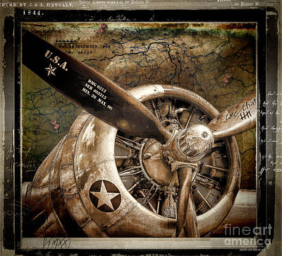 Wwii Painting - Wing And A Prayer by Mindy Sommers