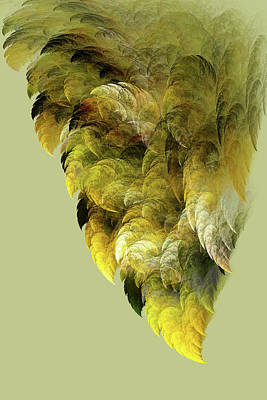 Canary Mixed Media - Winged by Bonnie Bruno