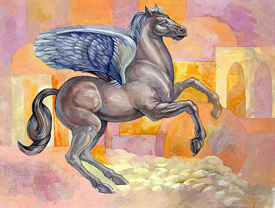Pegasus Mixed Media - Winged Horse by Filip Mihail