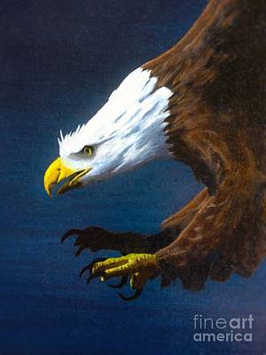 Raptor Painting - Winged Majesty by Kevin Ballew