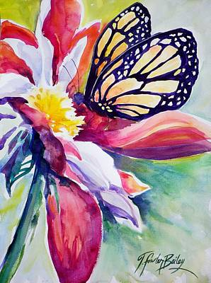 Painting - Stained Glass And Petals Sold by Therese Fowler-Bailey