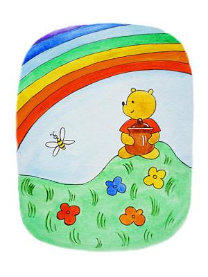 Winnie The Pooh  Print by Irina Sztukowski