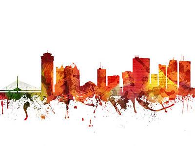 Canada Drawing - Winnipeg Cityscape 04 by Aged Pixel