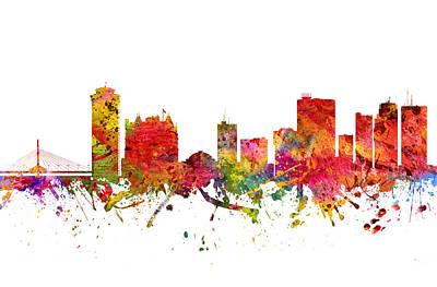 Canada Drawing - Winnipeg Cityscape 08 by Aged Pixel