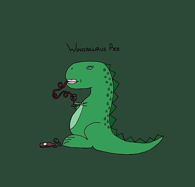 Halloween Digital Art - Winosaurus Rex by Tamera Dion