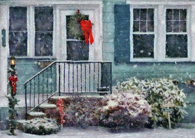 House Photograph - Winter - Christmas - Merry Christmas by Mike Savad