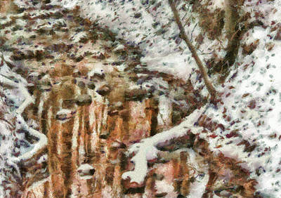Winter - Natures Harmony Painted Print by Mike Savad