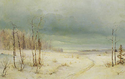 Winter  Print by Aleksei Kondratevich Savrasov
