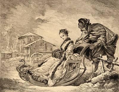 Winter Amusement By E. Champollion Print by Vintage Design Pics