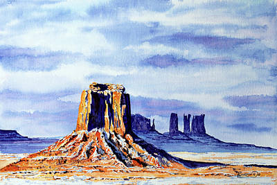 National Parks Painting - Winter At Merrick Butte by Timithy L Gordon