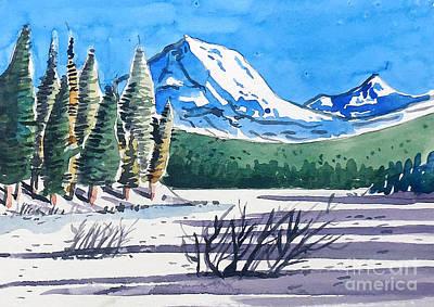 Lassen Painting - Winter At Mt. Lassen by Terry Banderas