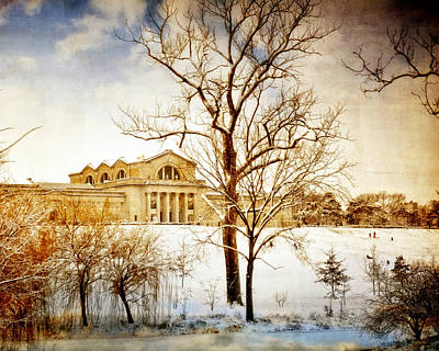 Winter At The Art Museum Print by Marty Koch