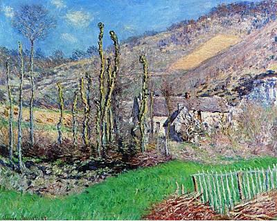 Winter At The Val De Falaise Print by Claude Monet